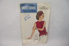 Ancien PATRON MARIE-CLAIRE 60's CORSAGE n°9767 Taille 40-44-48 Elégance de Paris