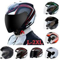 Motorcycle Bluetooth Helmet Headset Speaker Half Open Face Full Shield Visor DOT
