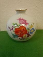 Meissen exklusive seltene riesige Vase Bunte Blume Bukett mit Goldrändern 1.Wahl