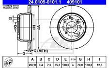 ATE Juego de 2 discos freno 267mm para ALFA ROMEO GT SPIDER GTA 24.0109-0101.1