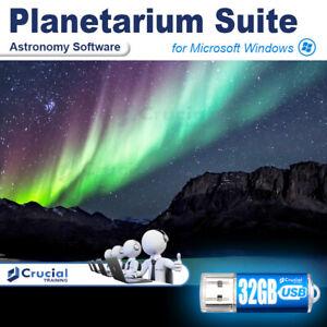 Planetarium Suite Astronomy Software Sky Charts Stargazing 3D Simulation on USB