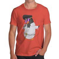 Twisted Envy Men's Elvis Guin The Penguin Funny T-Shirt