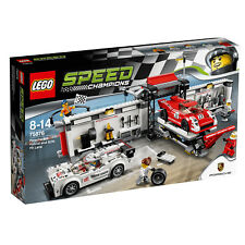 New | LEGO Speed Champions - Porsche 919 Hybrid and 917K Pit Lane - 75876