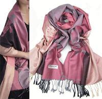 New Fashion Women's Lotus Flower Warm Pashmina Shawl Wrap Stole Cashmere Scarf