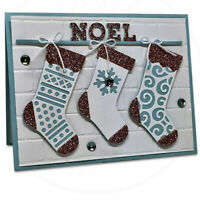 Christmas Stocking Metal Cutting Dies Merry Sock Stencil Craft Cards Making DIY