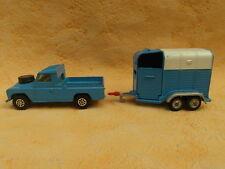 CORGI TOYS LAND ROVER 109 con rimorchio cavalli JEEP Pony trailer k37