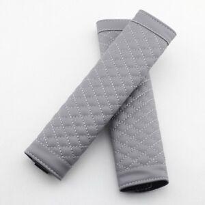 2Pcs Car Vehicle Grey Front Seat Life Belt Shoulder Pad Cover Harness Safe Parts