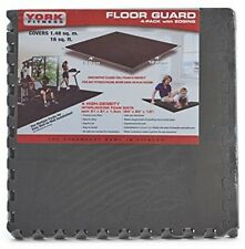 York Fitness Interlocking Floor Guard Training Mat for Treadmills, Cycles,