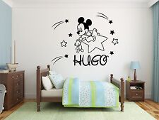 Custom Name Mickey Mouse Disney Stars Wall Decal Decor For Kids Childs Car Home