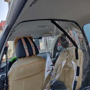Car Taxi 55x70'' PVC Film Clear Plastic Sheet Partition Prevent Dust Droplets