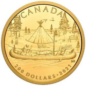 Kanada 200 Dollar 2021 - Kanadas Ureinwohner - Der Pelzhandel - 15,43 gr Gold PP