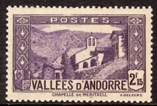 Andorra, French Administration Scott # 57 VF Unused 1938 2.15F Violet Chapel