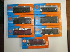 7 Roco Railway Freight Car Passenger 4207 4208 4217 4372 4393A Gauge H0 Boxed