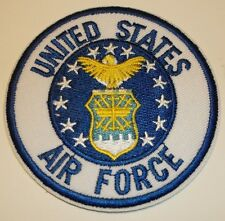 """US Air Force USAF Embroidered Patch~ROUND 3""""~Iron or Sew On--FREE Shipping"""