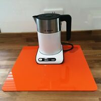 Square Kitchen Worktop Savers in Orange Gloss Finish Acrylic 3mm