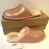 Women's UGG Slip on Slippers UK Size 5 and 6 Pink Pearle Iridescent Boxed