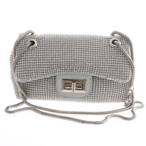 New Rhinestone Silver Evening Bag TLX143-SIL