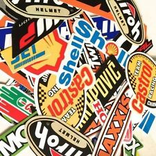 40  MIXED RANDOM STICKER DECAL CAR ATV BIKE RACING HELMET MOTORCROSS DIRT BMX #A