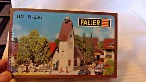 HO Scale Faller European Village Church Dorfkirche Model Kit, #236 BNOS