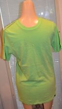 MENS LIME GREEN SOLID COLOR HURLEY T SHIRT SIZE SMALL