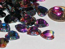 10pc Vintage Crystal SWAROVSKI Heart lot Rhinestones AB m foil no hole 10mm NEW*