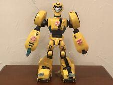 "Transformers Animated Cyber Speed Power Bots Bumblebee 11"" Figure Hasbro 2007"