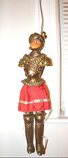 Antique Paper Mache Knight Figure Doll Vintage Art Metal Italian Marionette