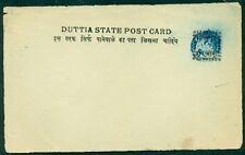 "INDIA DATIA 1899, ¼a ""Duttia"" unused postal card H&G #4"