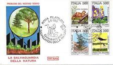 Repubblica Italiana 1985 FDC Roma Salvaguardia della Natura