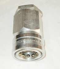 Hansen LL10H41 Stainless Steel 303 Interchange Hydraulic Fitting, Socket w Valve