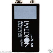 1 Powerex Imedion 9V 9.6V 230mAh Rechargeable NiMH Maha Battery