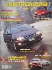 Quattroruote 508 1998 Alfa156 e Mercedes C:rivincita del diesel.Nuova Fiat600