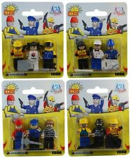 COBI - Action Town 3-Piece Figure Sets (4) ~ 12 Figures in Total #NEW