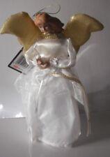 20CM Oro Tradizionale Angelo Fata Natale per Albero di Natale topper Ornamento Decorazione
