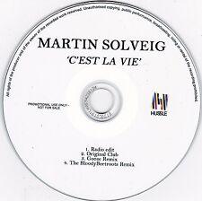 """Martin Solveig - """"C'est La Vie"""" **Rare Aussie Promo CD** 4 Tracks"""