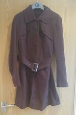 Ladies Ted Baker mac belted coat jacket size 10
