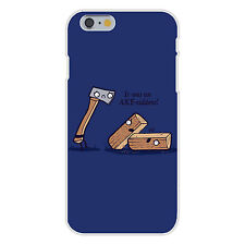 Axeciddent Pun Cartoon Axe & Wood Fits iPhone 6+ Plastic Snap On Case Cover New