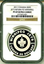 2011 $20 Canada Jet's Return To Winnipeg NGC PF69 Ultra Cameo Mint Box & COA OGP