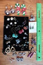 Lot of wholesale Earrings Hanging dangle beads & parts flowers Christmas hearts