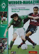 Programm 2001/02 SV Werder Bremen - Bayer Leverkusen