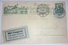 Karte Schweizer Flugpost Basel 1923 Militär Flugtag Luftpost Ganzsache (78