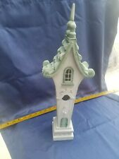 New listing White Victorian Style Wood Bird House Indoor Bird House Home Decor