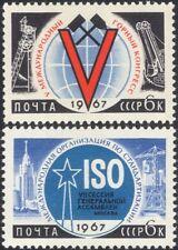 Russia 1967 Coal Mining/MINE/Building/normes/Congress/Crane 2 V Set (ru1004)