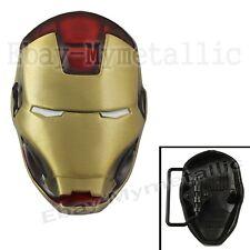 Cool Super Hero IRONMAN Iron Man Mask Removable Metal Belt Buckle Gold #01