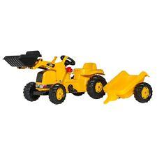 Rolly Toys CAT Lader Traktor mit Anhänger Trettraktor mit Frontlader gelb