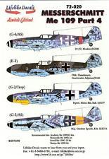 Lifelike Decals 1/72 MESSERSCHMIT Me-109 Fighter Part 4