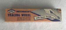 Vtg 1949 Traum Sewing Pattern Tracing Wheel Orange Handle Box Antique