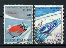 Italy 1966 SG#1148-9 Bobsleigh Championships Used Set #A40263