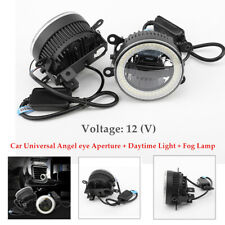 Car Angel eye Aperture Daytime Light Fog 3in1 LED Front Bumper Lighting Lens Kit