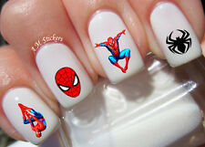 Spider Man Nail Art Stickers Transfers Decals Set of 66